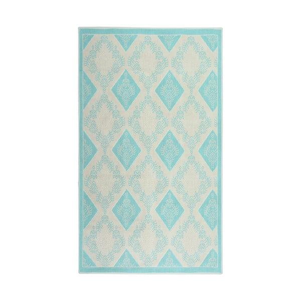Tyrkysový bavlnený koberec Floorist Bukle Baklava, 80x300cm