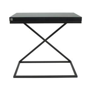 Čierny odkladací stolík Take Me HOME, 50×30cm