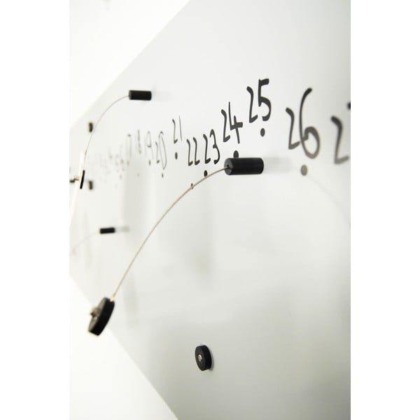 Magnetický kalendár Krok White, 100x30 cm
