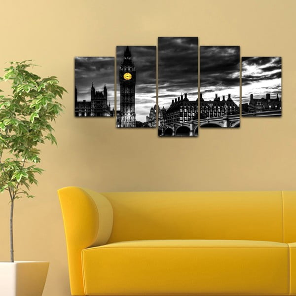 Viacdielny obraz Black&White no. 78, 100x50 cm