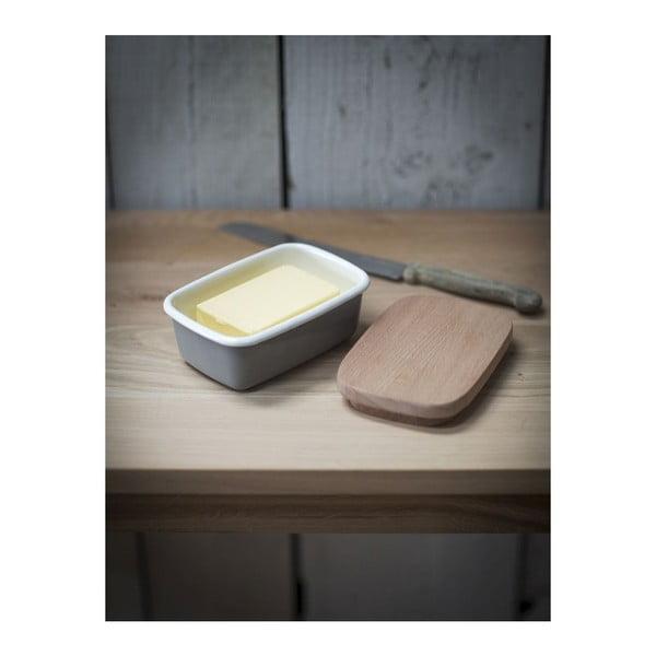 Nádoba na maslo s dreveným víkom Garden Enamel