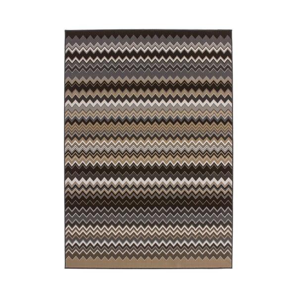 Hnedo-čierny koberec Kayoom Stella 700 Brown, 160x230cm