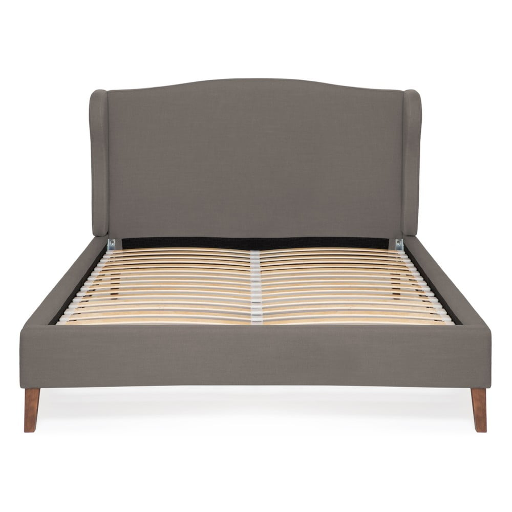Sivá posteľ Vivonita Windsor Linen, 200 × 180 cm