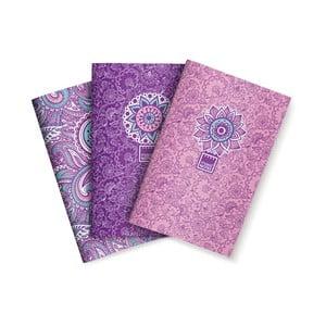 Sada 3 zápisníkov Makenotes Purple&Pale