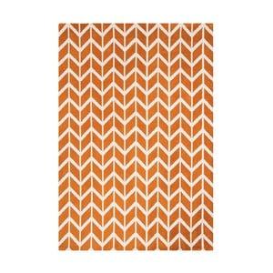 Koberec Asiatic Carpets Chevron Orange, 100x150 cm