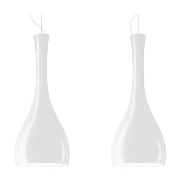 Dvojité svetlo ITTEKI Elementary opal glossy/white/white