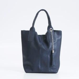 Modrá kožená kabelka Giorgio Costa Lauretta