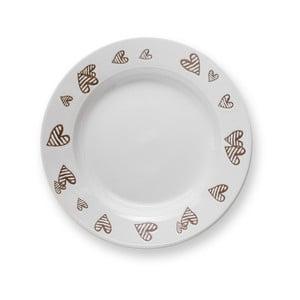Biely kameninový polievkový tanier Brandani Batticuore