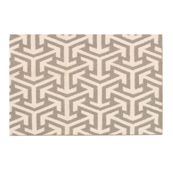 Ručne tkaný koberec Kilim 305 no2 Grey, 140x200 cm