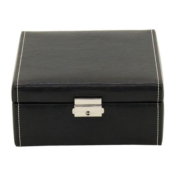 Čierny box na 6 hodiniek Friedrich Lederwaren Bond