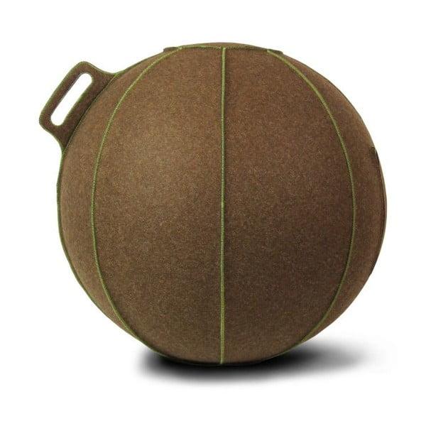 Hnedá plstená lopta na sedenie VLUV, 65cm
