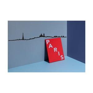 Čierna nástenná dekorácia so siluetou mesta The Line Paris XL