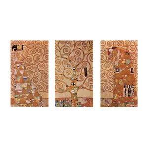 Reprodukcia obrazu Gustav Klimt - Triptych, 40x70cm