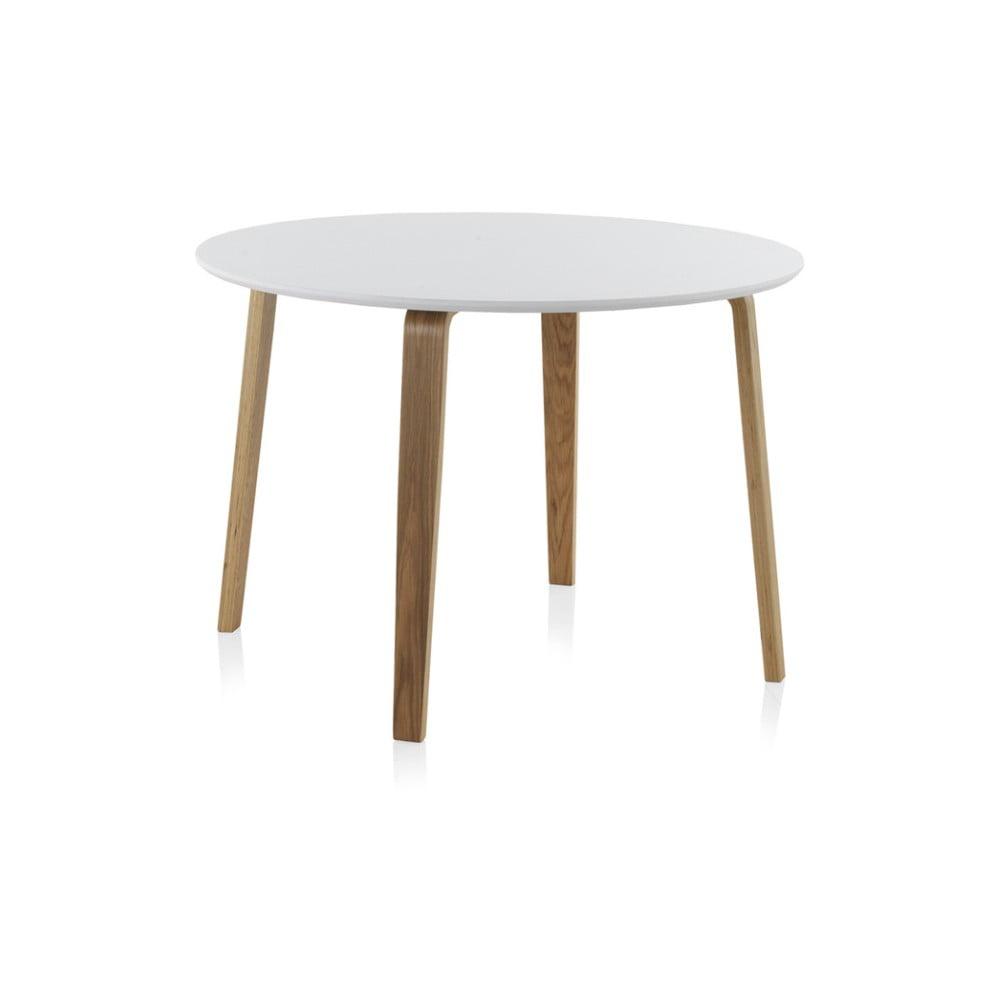 Biely okrúhly jedálenský stôl Geese, ⌀ 110 cm