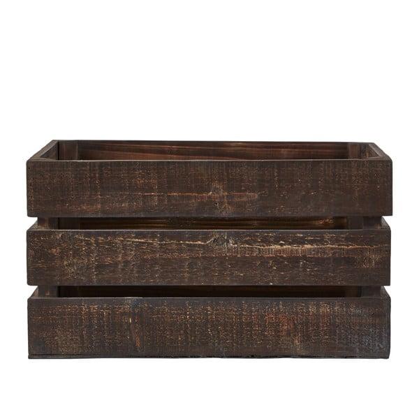 Sada 3 úložných boxov KJ Collection Wooden Brown