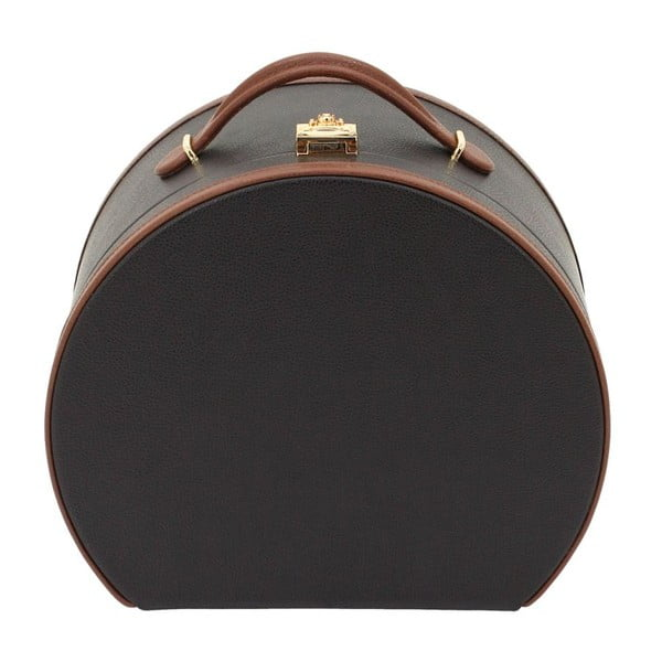 Hnedá šperkovnica/kozmetický kufrík Friedrich Lederwaren Ascot