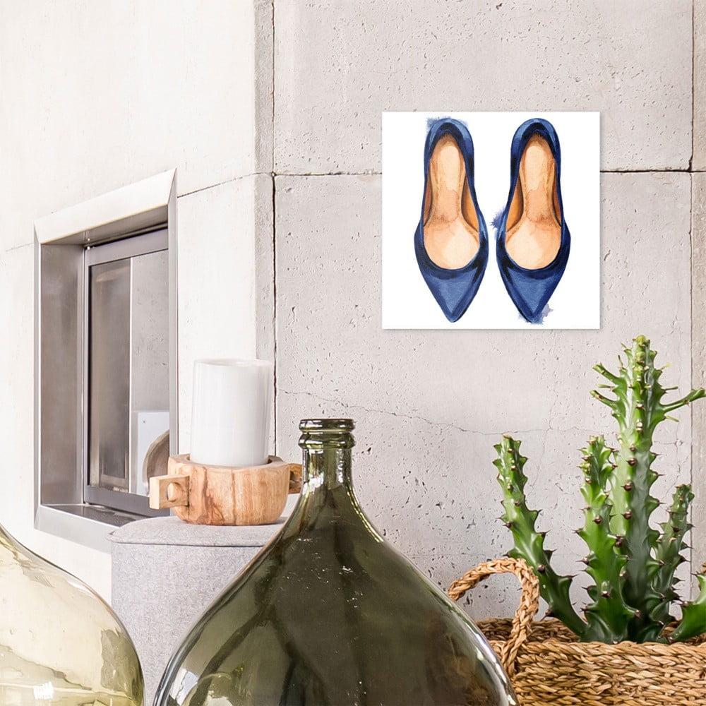 Sklenený obraz OrangeWallz Heels, 30 x 30 cm