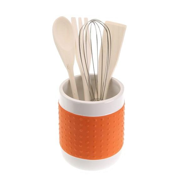 Set 4 kuchynských nástrojov so stojanom Versa Con Orange