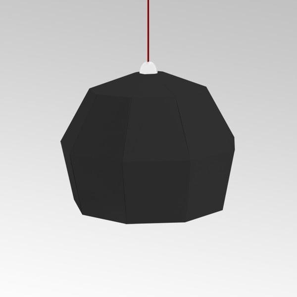 Kartónové svietidlo Uno Fantasia A Black, s červeným káblom