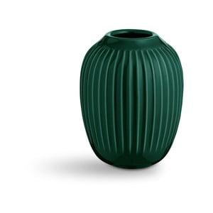 Zelená kameninová váza Kähler Design Hammershoi, výška 10 cm