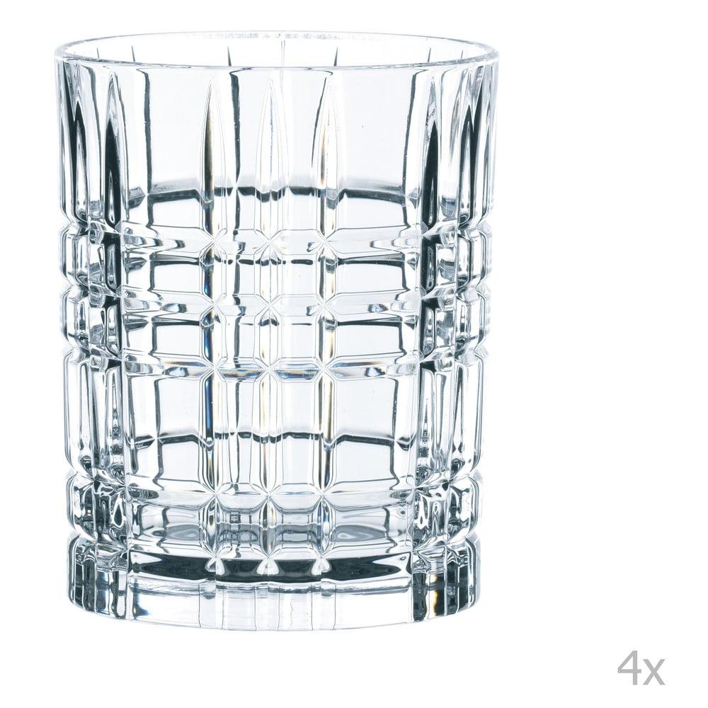 Sada 4 pohárov na whisky z krištáľového skla Nachtmann Square Whiskey Set, 345 ml