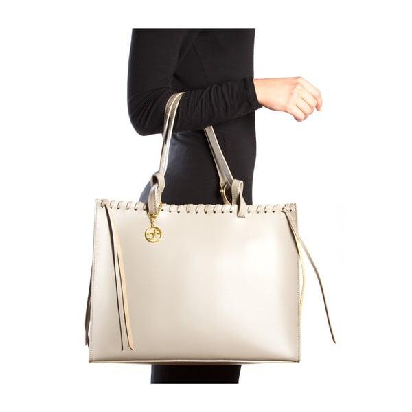 Kožená kabelka Felicia, béžová