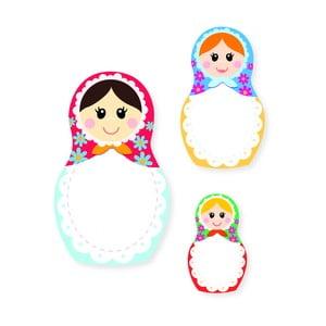 Sada poznámkových bločkov Thinking gifts Nesting Dolls