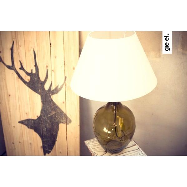 Sklenená stolová lampa, olivová
