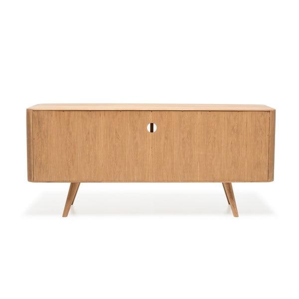 Televízny stolík z dubového dreva Gazzda Ena Three, 135 x 42 x 60 cm