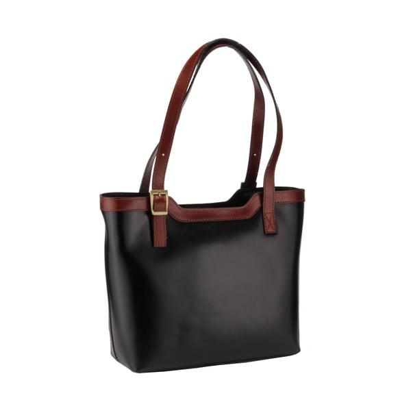 Kožená kabelka Emilio Masi Zosma, hnedá/čierna