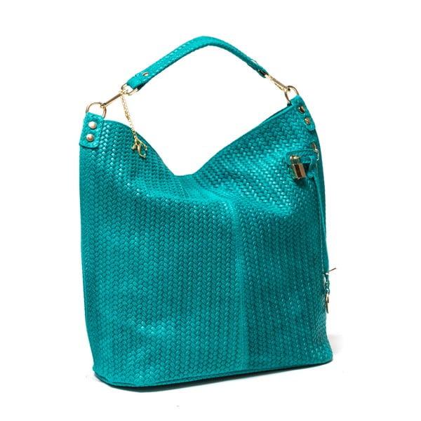 Kožená kabelka Renata Corsi 871, tyrkysová