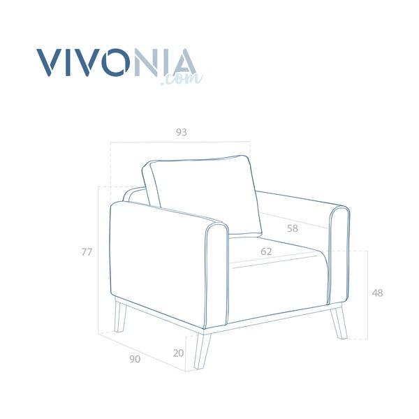 Pieskovohnedé kreslo Vivonita Milton