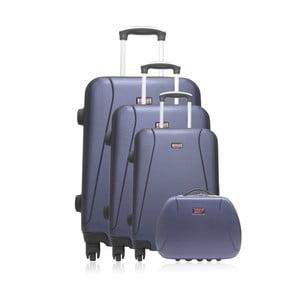 Sada 4 modrých cestovných kufrov na kolieskach Hero Lanzarote-C