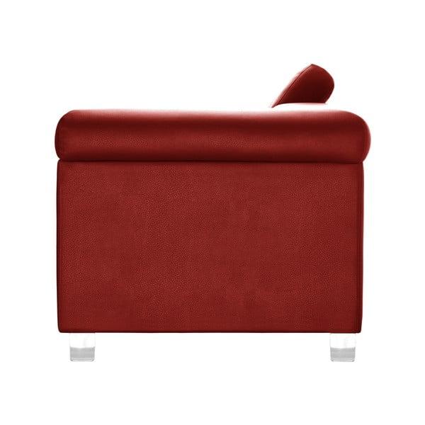 Červená rohová lenoška Corinne Cobson Home Speakeasy, ľavý roh