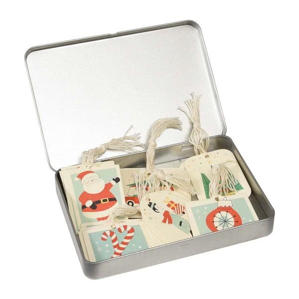 Sada 36 ceduliek na darčeky v plechovej škatuľke Rex London