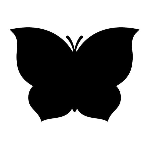 Tabuľová samolepka s tekutou kriedou Fanastick Black Butterfly