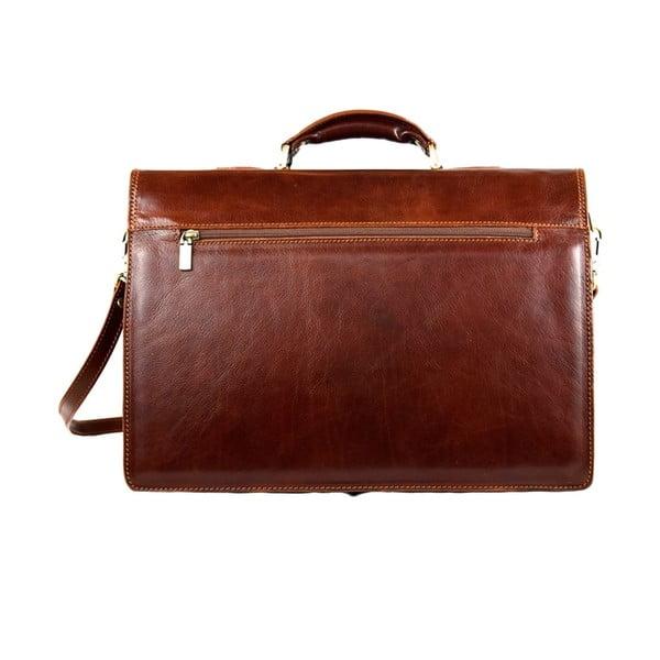 Kožená taška Santo Croce VL8243 Brown