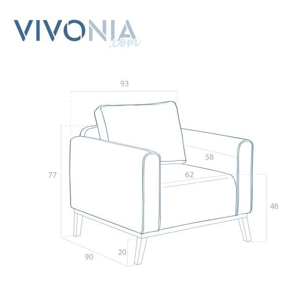 Svetlosivé kreslo Vivonita Milton