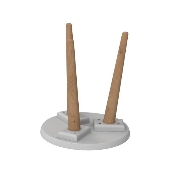 Stôl D2 Bergen, 30 cm, sivý