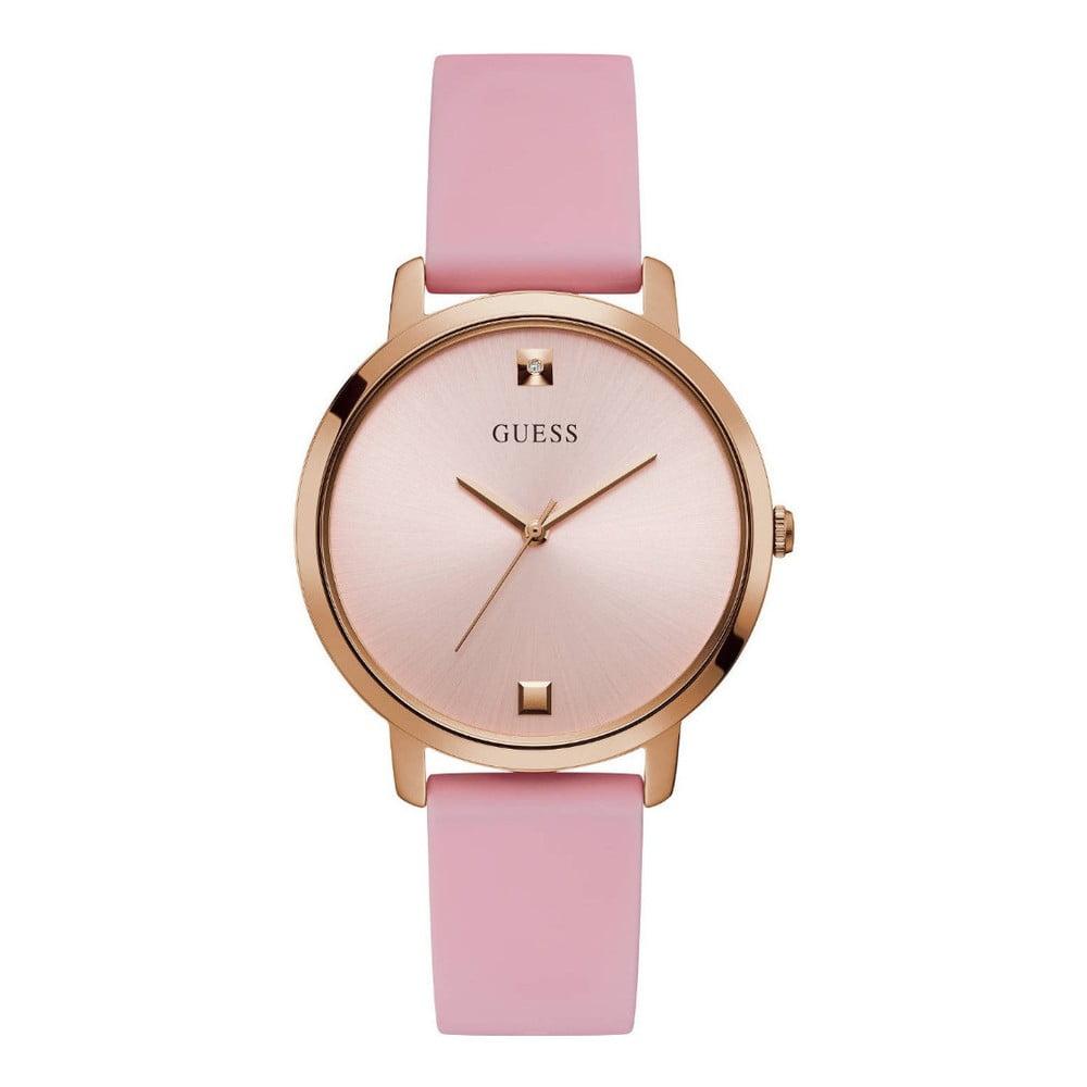 Dámske hodinky s ružovým silikónovým remienkom Guess W1210L3