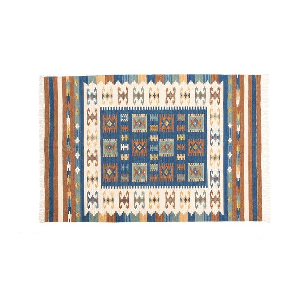 Ručne tkaný koberec Kilim Dalush 002, 90x60 cm