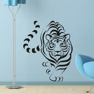 Samolepka na stenu Tiger, čierna