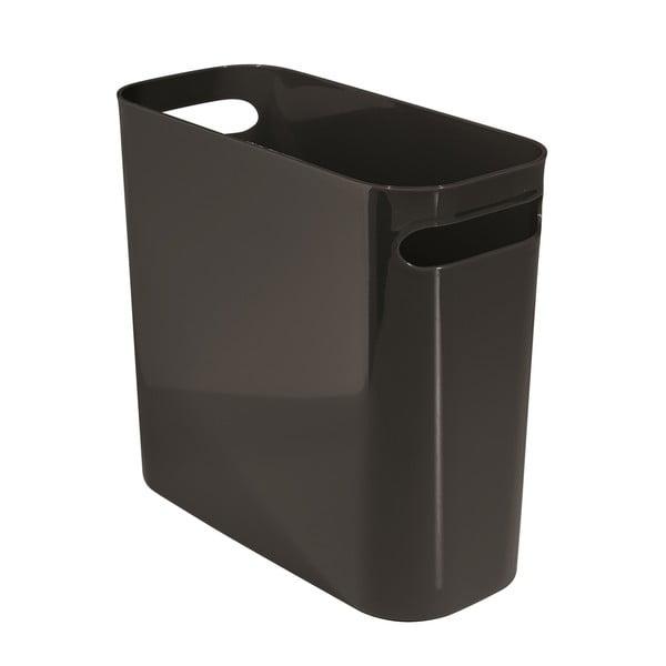 Úložný kôš Una Black, 12x27 cm