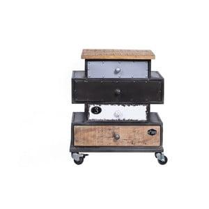 Asymetrická komoda z mangového dreva SOB Vintage