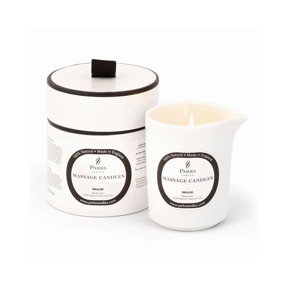 Masážna sviečka s vôňou ruže a ylang ylang Parks Candles London Indulge/Soothing, 50 hodín horenia