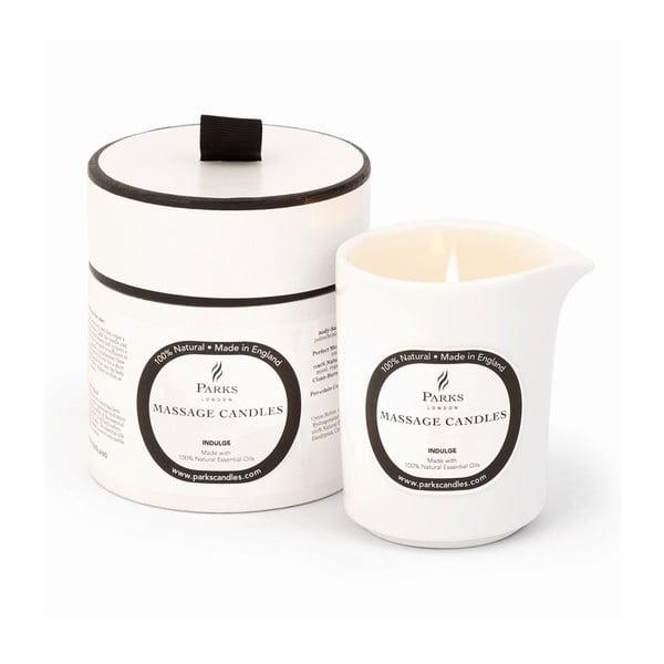 Masážna sviečka s vôňou ruže a ylang ylang Parks Candles London Indulge/Soothing, 50hodín horenia