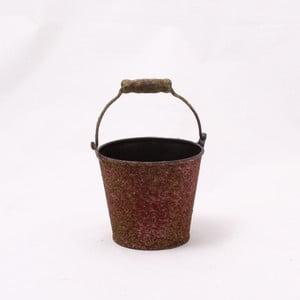 Hnedý plechový obal na kvetináč DaklsIII