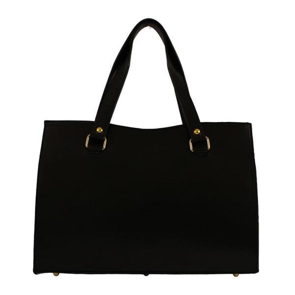 Čierna kožená kabelka Veronica