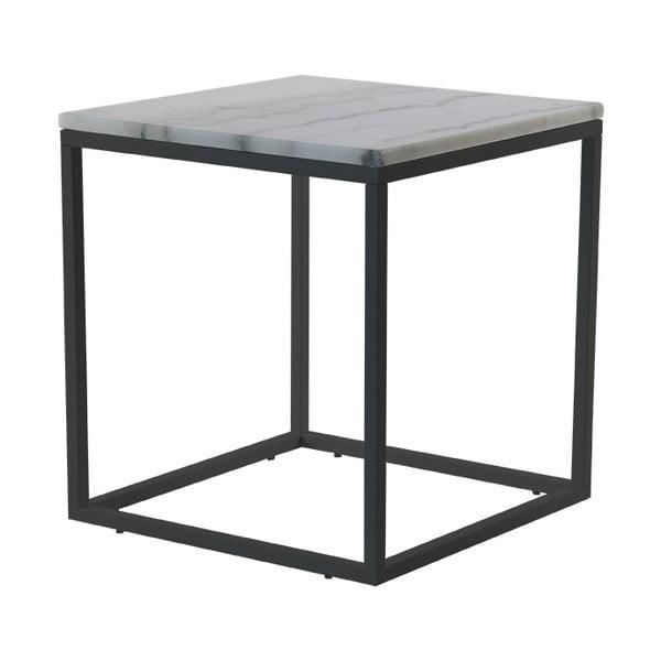 Mramorový konferenčný stolík s čiernou konštrukciou RGE Accent, 55×55cm