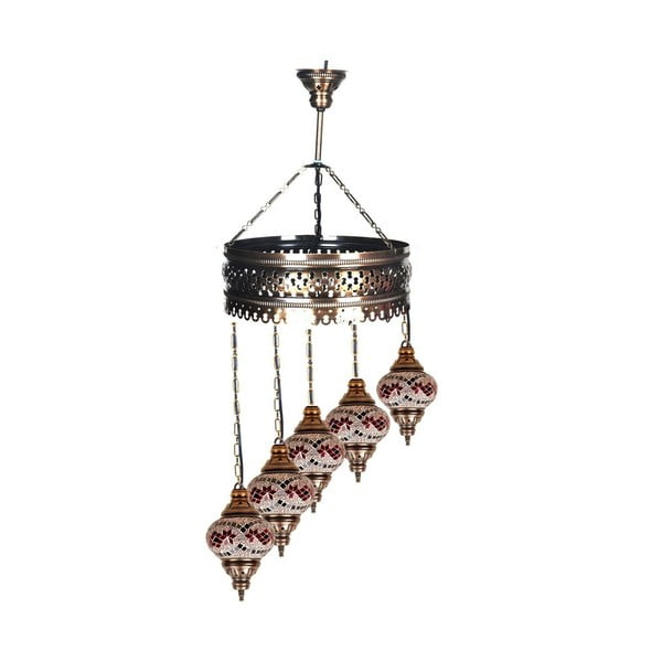 Sklenená ručne vyrobená lampa Loren, ⌀ 13 cm
